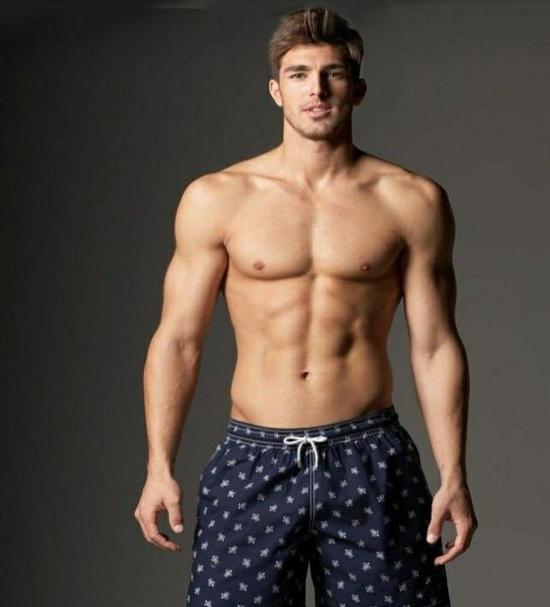 man shirtless